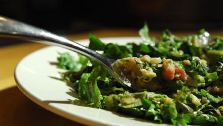 Insalata Pontormo (Warm salad with pancetta and eggs)