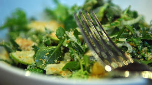 Fennel, green apple and watercress salad
