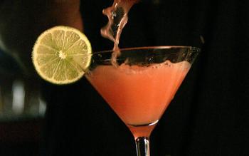 Blood orange jalapeno margarita