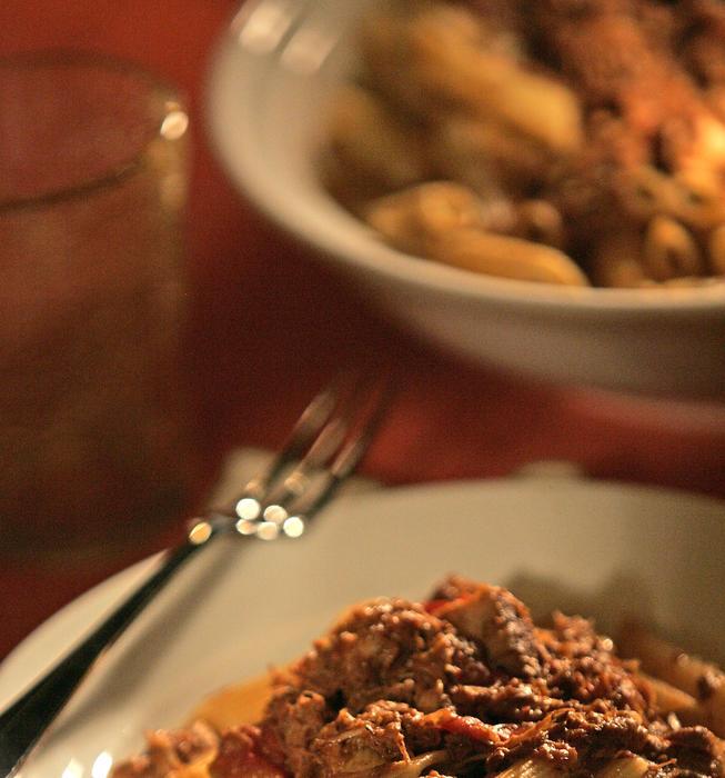 Ragu with pork ribs, sausage and pancetta