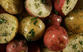 New potatoes with mixed herbs