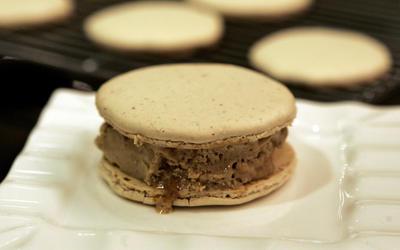 Coffee toffee ice cream sandwiches