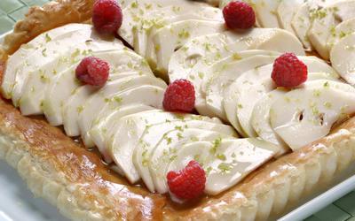 Cherimoya tart