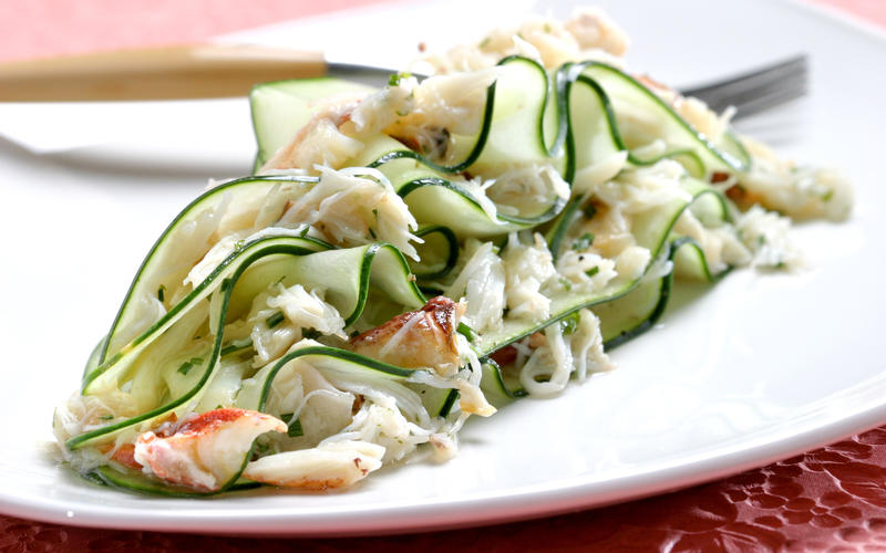Crab salad with cucumber