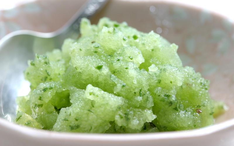 Cucumber granita