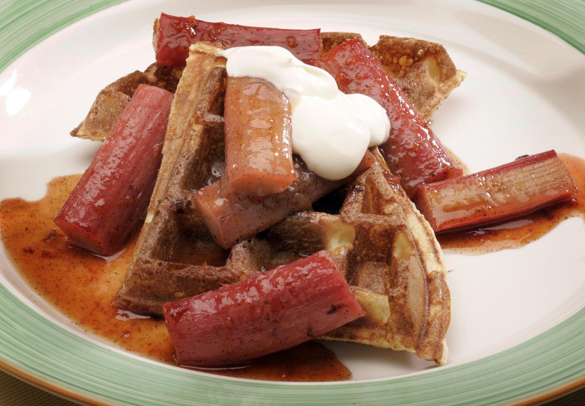 Recipe: Sour cream waffles - California Cookbook