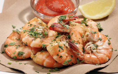 Peel-'n'-eat shrimp