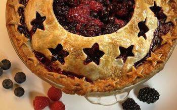 Three-berry pie