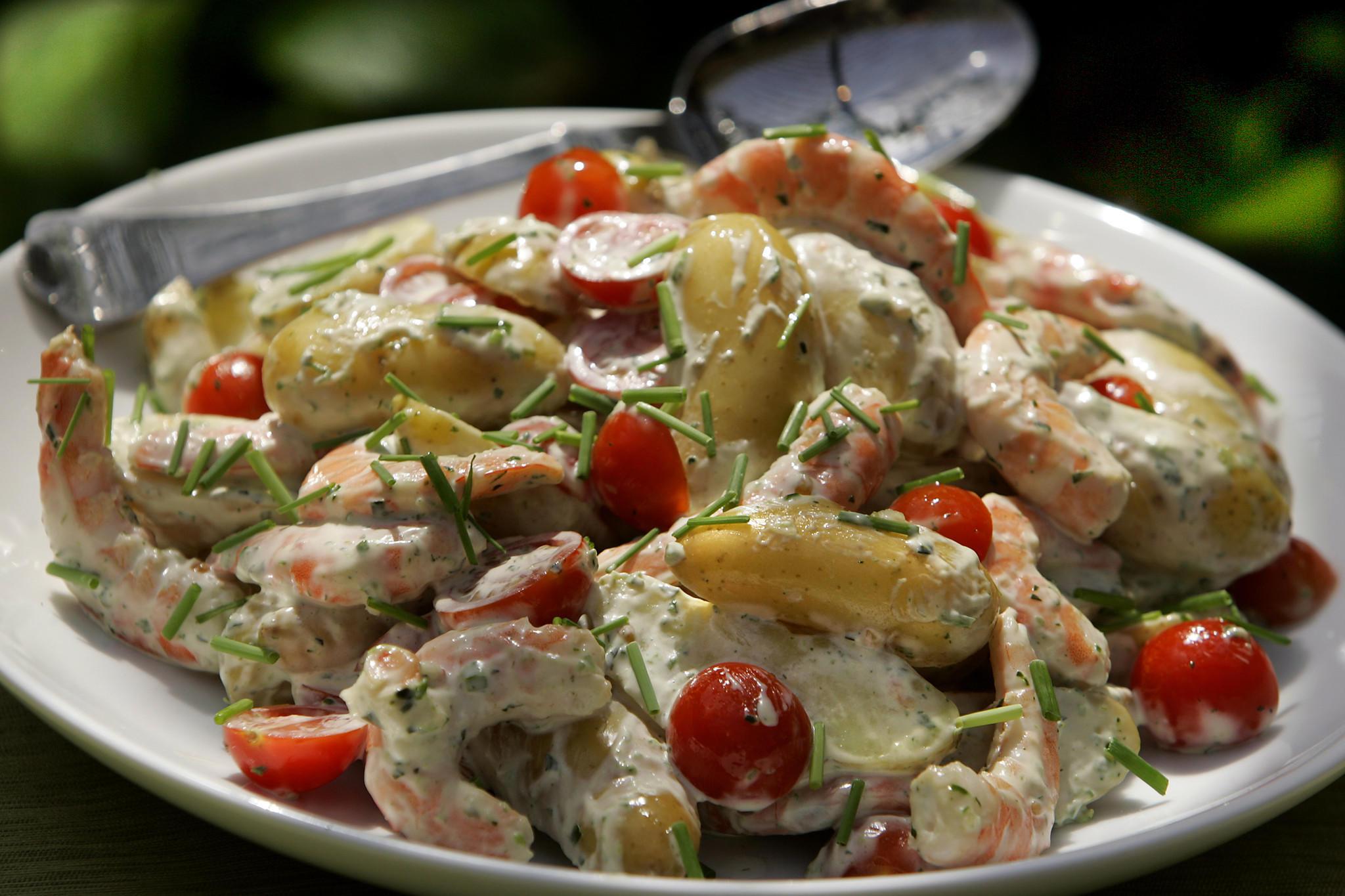 Recipe: Potato and shrimp salad with green goddess dressing ...