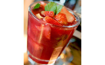 Fraiche's strawberry sangria