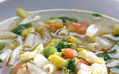 Summer minestrone with parsley pistou