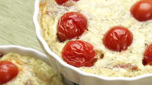 Cherry tomato clafouti