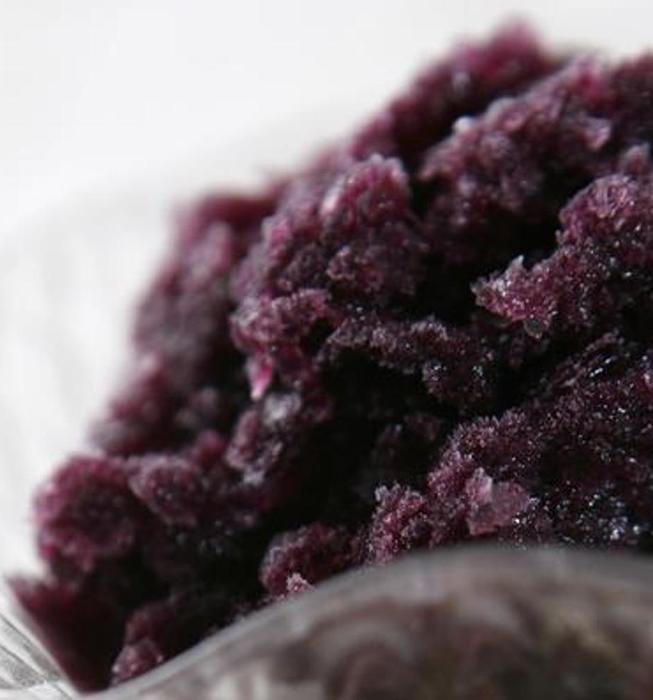Concord grape granita