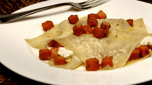 Free-form butternut squash lasagna