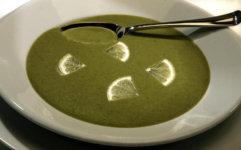 Mixed greens soup