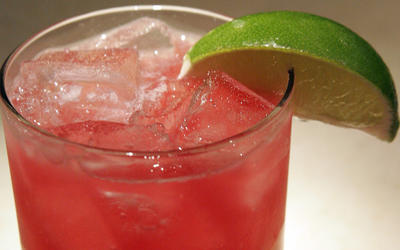 Horseradish and pomegranate margarita