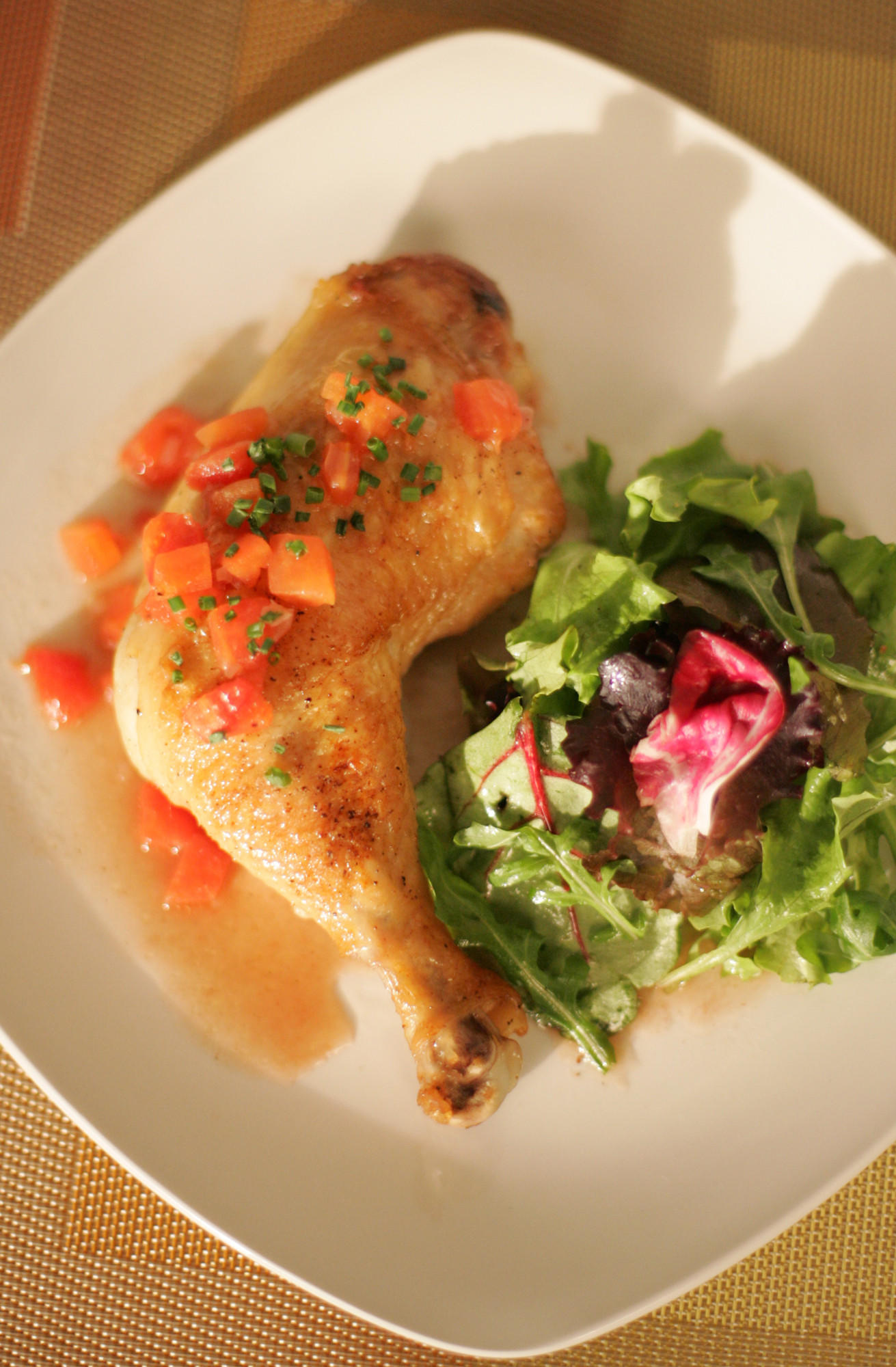 Recipe: Sauteed chicken with red wine vinegar sauce ...