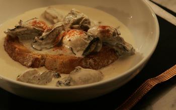 Oyster pan roast