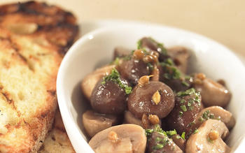 Mushrooms a la grecque