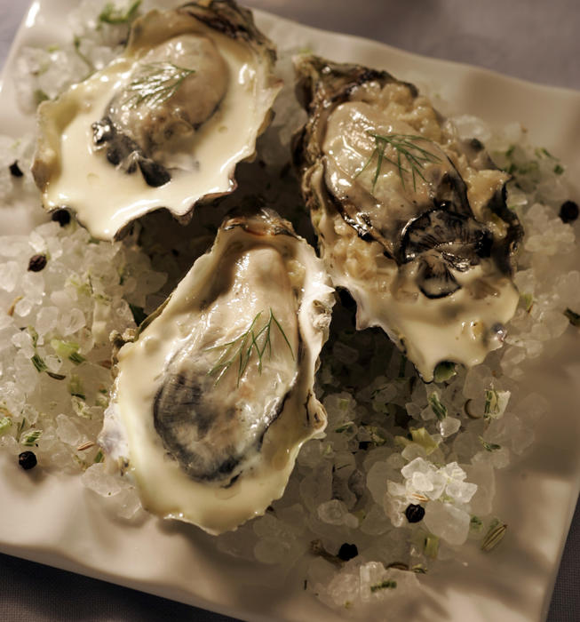 Recipe: Oysters roasted with fennel and cream - California Cookbook