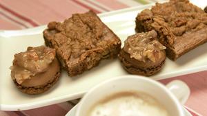 German chocolate cake as brownies