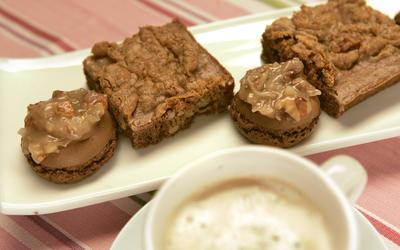 German chocolate cake as cookies