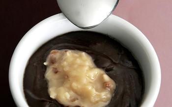 German chocolate cake as pudding