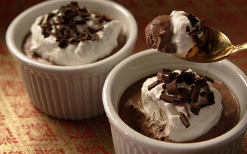 Mom's Cuisinart chocolate mousse