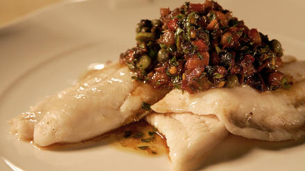 Cafe des Artistes' fillet of sole Provencal