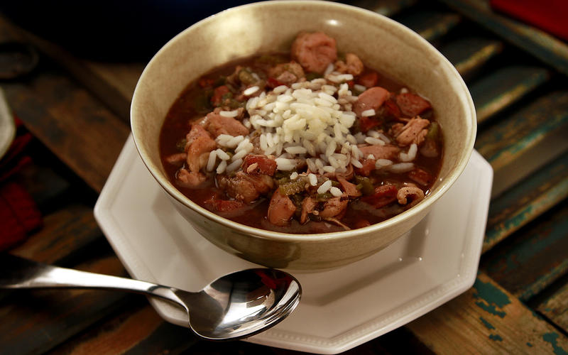 Chicken and andouille smoked sausage gumbo