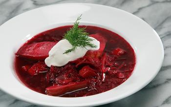 Paper or Plastik Cafe's borscht