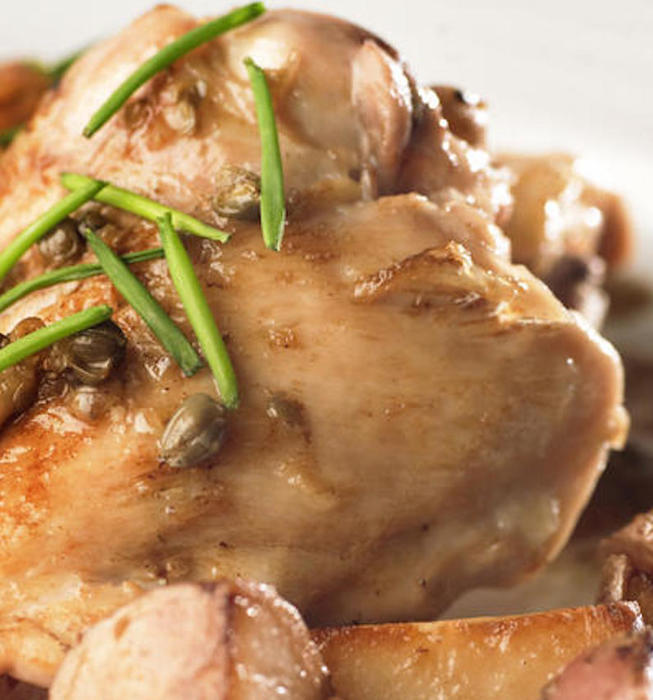 Recipe: Braised chicken with capers - California Cookbook