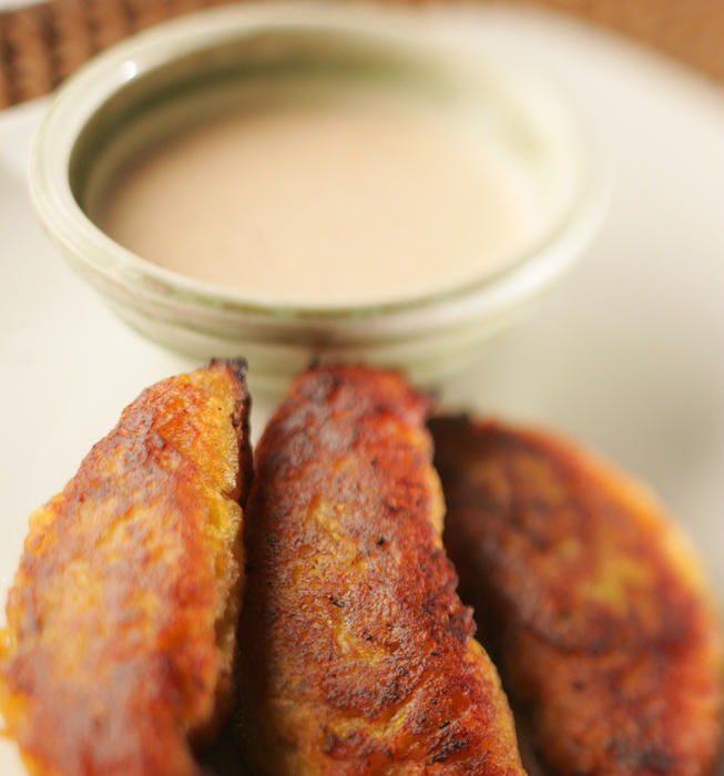 Plantain empanadas with chipotle crema