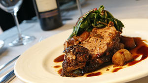 Pomegranate braised lamb