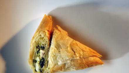 Chicken and watercress pesto turnovers