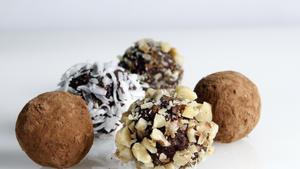Chocolate haroset truffles