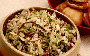Three-cabbage coleslaw