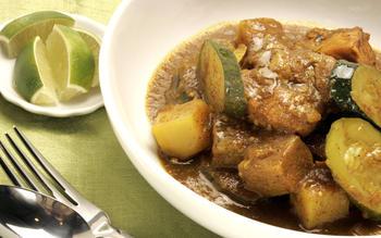 Colombo pork loin curry
