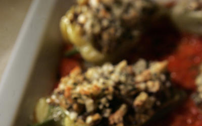 Vegetable-stuffed Hungarian peppers