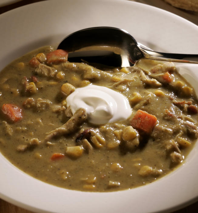 Recipe: Creamy green chile and chicken stew - California ...