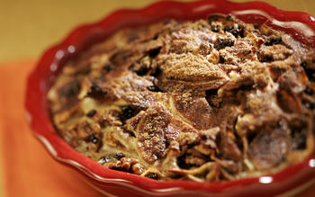 Apple walnut kugel