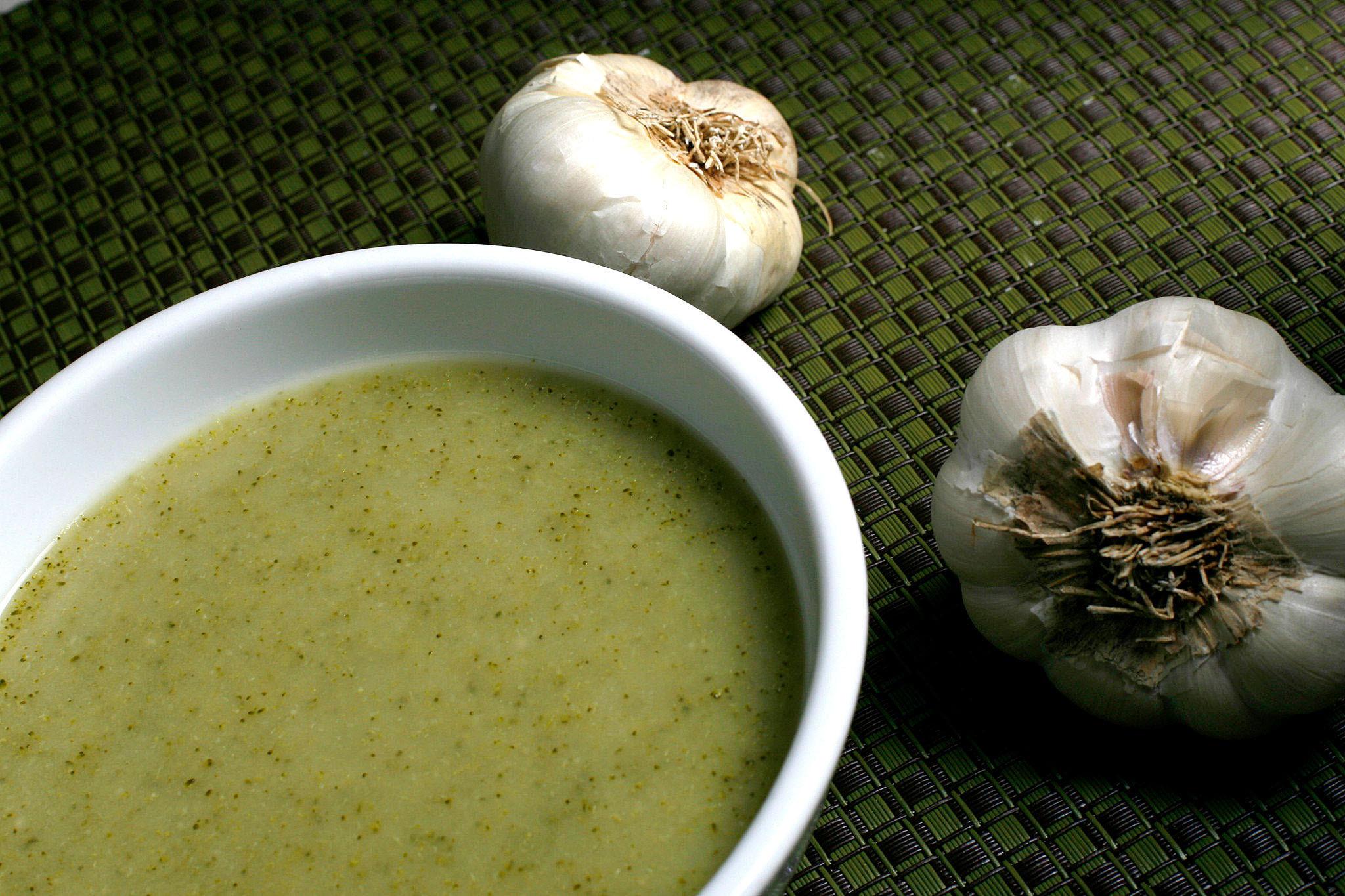 Recipe Broccoli And Roasted Garlic Soup California Cookbook border=