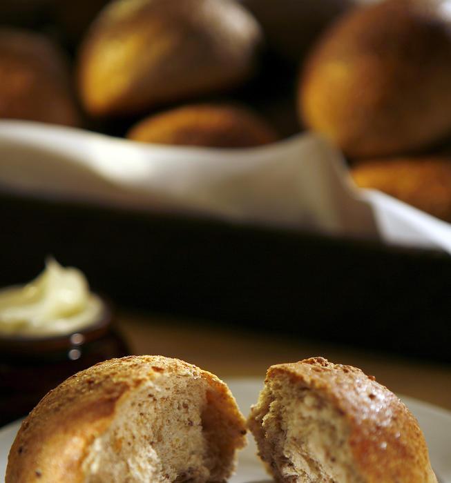 Whole-grain mustard rolls