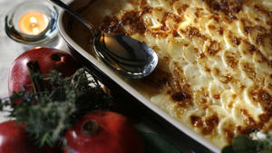 Turnip-potato gratin