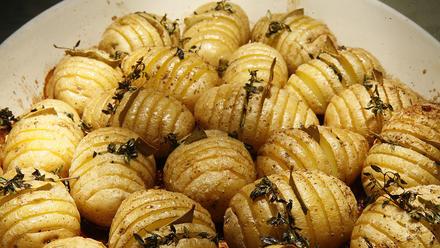 Roast hedgehog potatoes