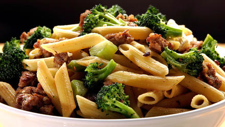 Pasta with Italian sausage and broccoli