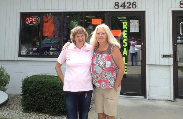 Carol Fletcher (left) and Laura Swem operate Last Chance Resale Store near Harbor Springs.