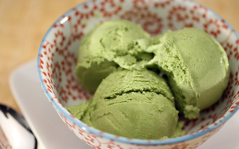 Recipe green tea ice cream california cookbook for California iced tea recipe