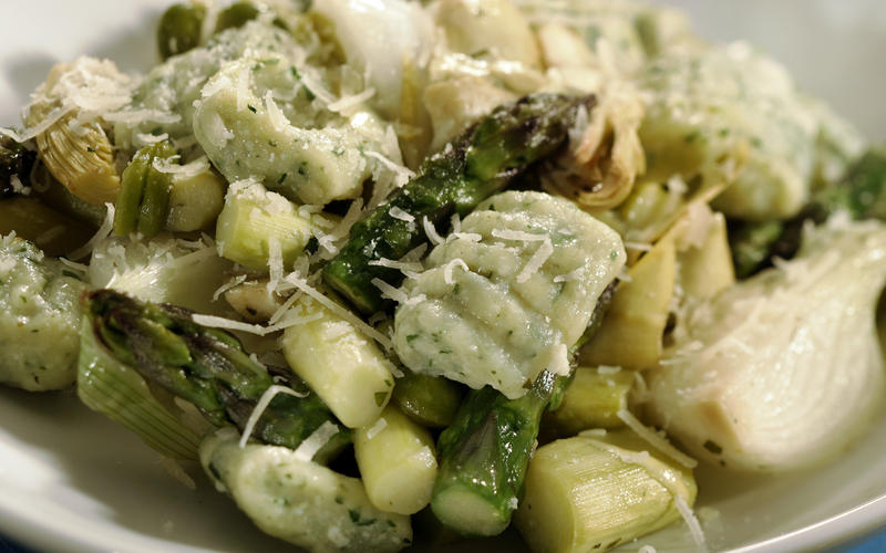 Recipe: Spring vegetable stew with herbed ricotta gnocchi ...