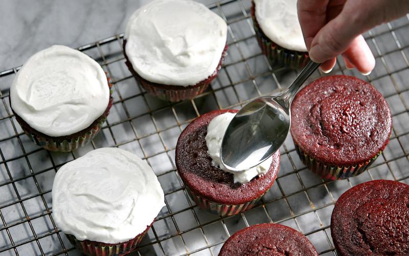 Red velvet insanity cupcakes